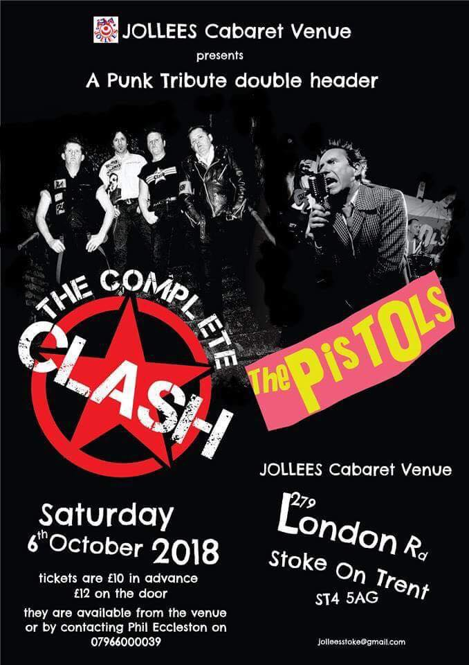 The Complete Clash + The Pistols, Stoke On Trent 2018